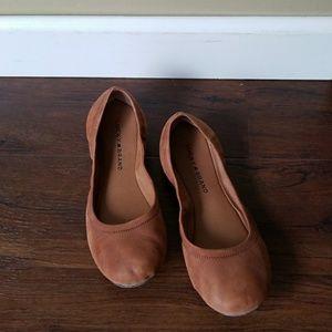Lucky Brand leather cognac brown ballet flat 9.5